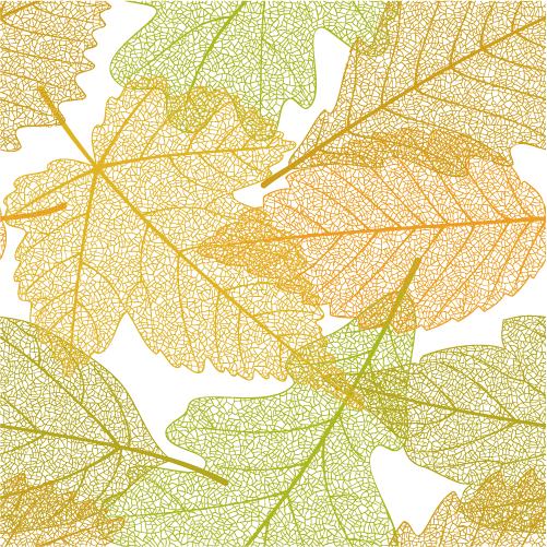 Patrón de hojas otoñales - vector