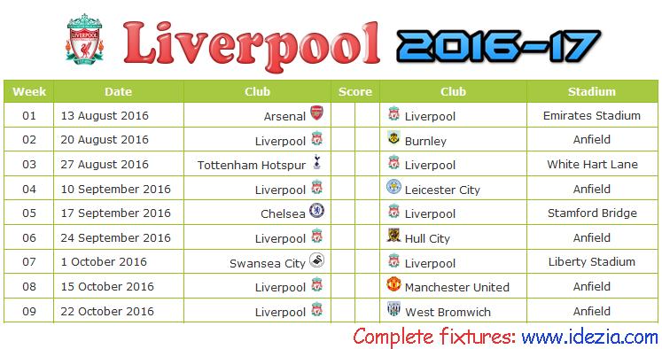 Download Jadwal Liverpool FC 2016-2017 File JPG - Download Kalender Lengkap Pertandingan Liverpool FC 2016-2017 File JPG - Download Liverpool FC Schedule Full Fixture File JPG - Schedule with Score Coloumn