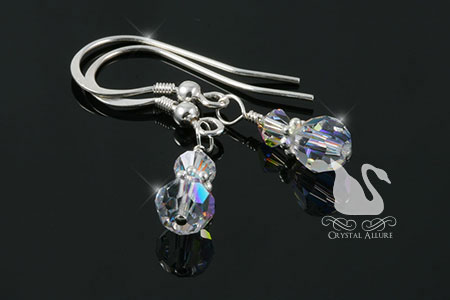 Crystal Ice Tiny Twinkle Swarovski Beaded Earrings (EC266)