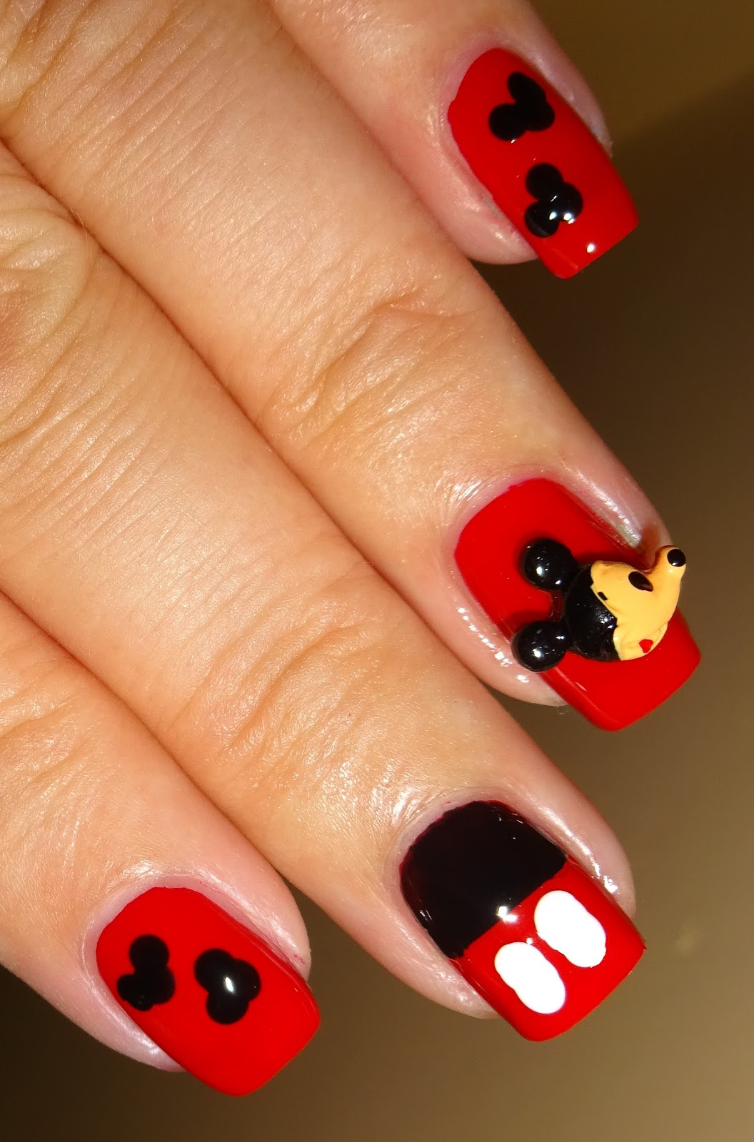 Wendy 39 s delights mickey mouse 3d nail decorations from for 3d nail decoration