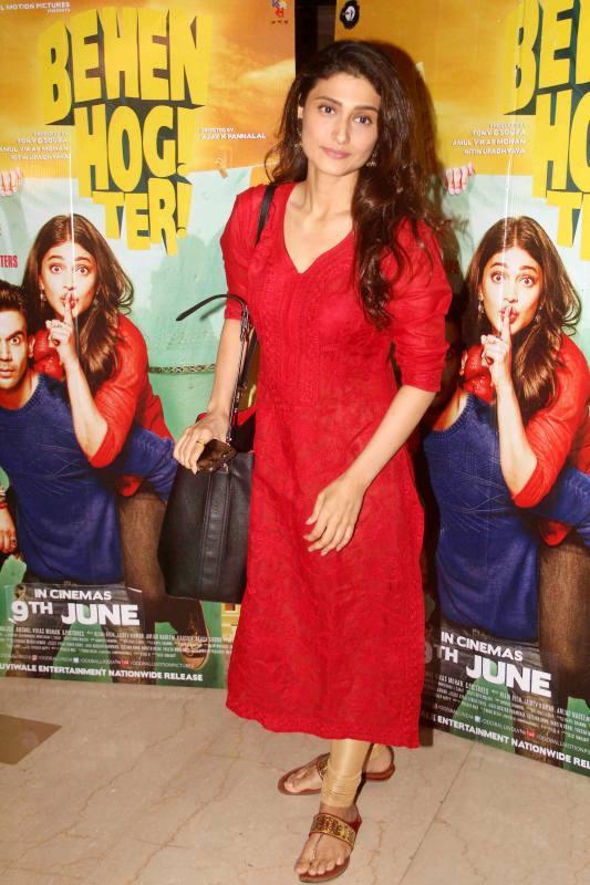 Hindi TV Actress Ragini Khanna Long Hair Stills In Red Dress
