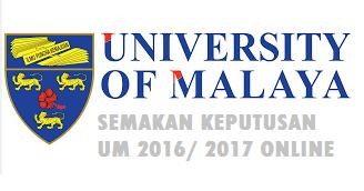 Semakan keputusan Universiti Malaya 2016 Online