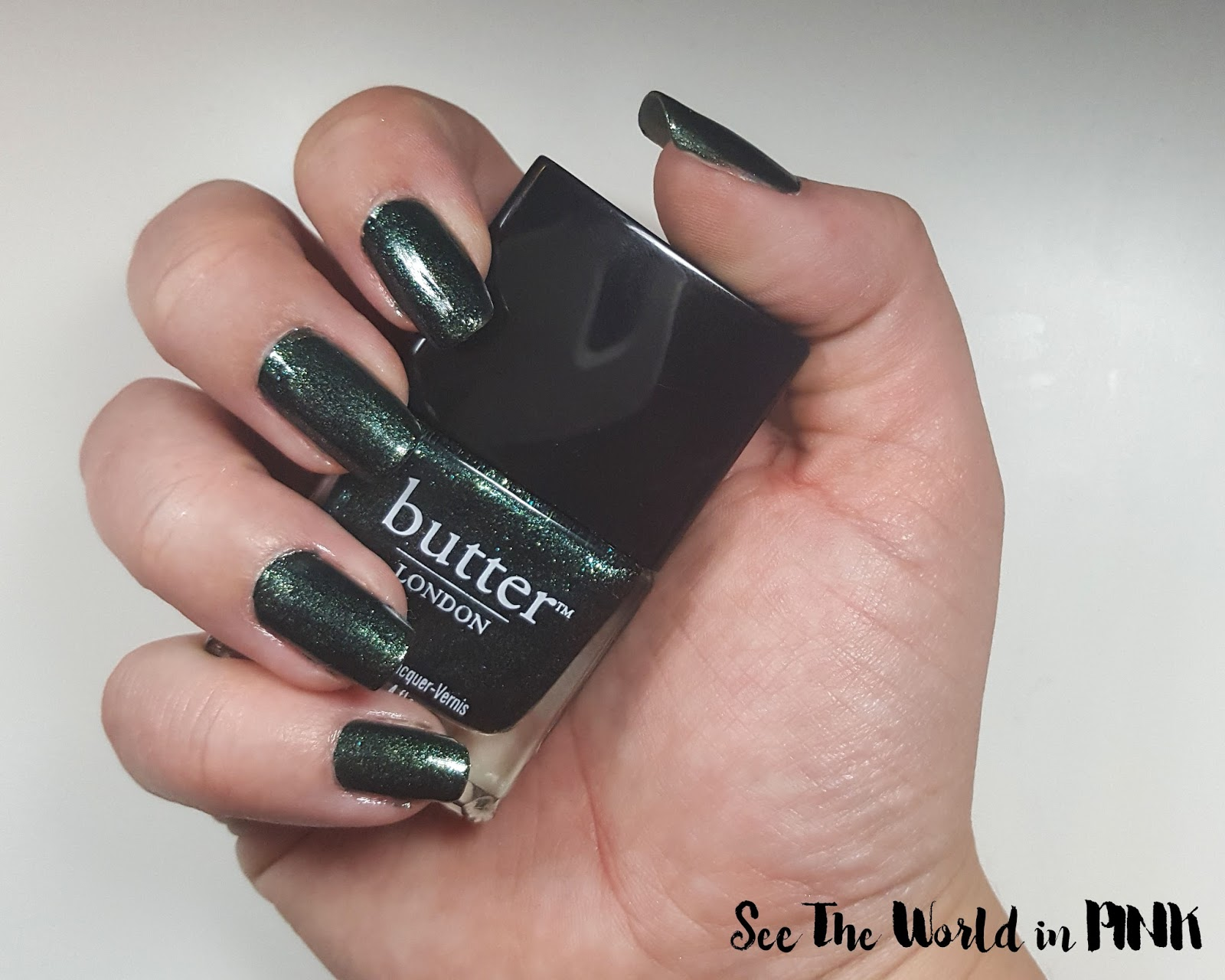 "Glittery Green Manicure Tuesday - ""Jack The Lad"" Butter London polish"
