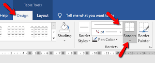 Cara Mengganti Border Tabel Microsoft Word
