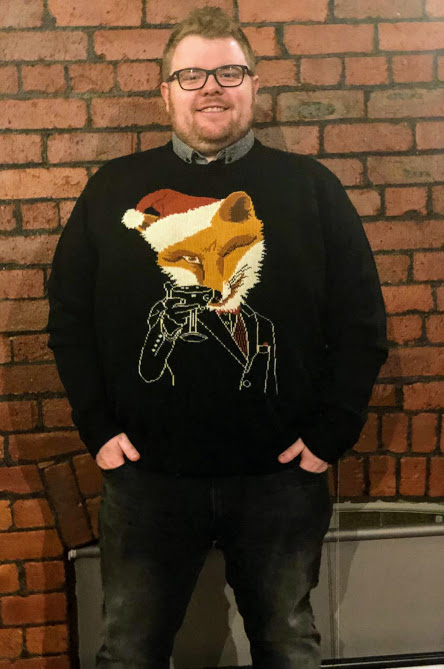 A Grown-Up Festive Weekend in Ouseburn - Jacamo christmas fox jumper and jeans