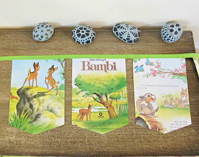 image bambi bunting children decor homewares deer woodland banner garland domum vindemia upcycled handmade