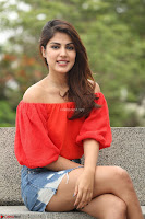 Rhea Chakraborty in Red Crop Top and Denim Shorts Spicy Pics ~  Exclusive 039.JPG