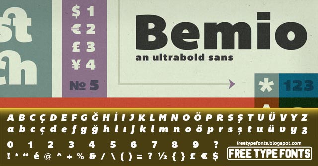 Bemio, Bold, Plain and Italic Fonts Font Download | Free Type Fonts