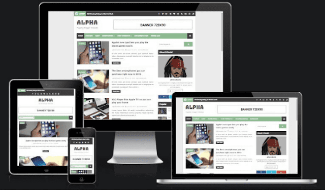 Alpha Flagship Blogger Template - Updated Version 2019 FREE Download