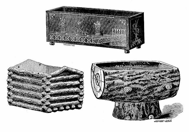 1889 decorative flower pots