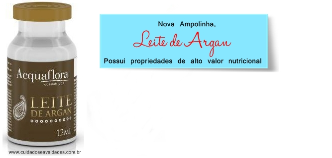 Ampola Leite de Argan Acquaflora