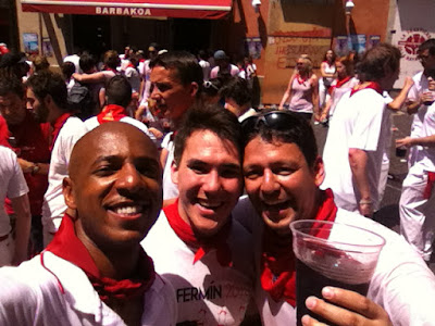 With Alex and Emilio, starting San Fermin off with a bang