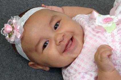 Newborn Hispanic Baby Girls Little Footprin...