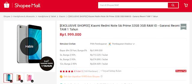 A Prime Ludes Terjual Dalam Hitungan Menit Seperti Redmi 5A, Redmi Note 5A Prime Ludes Terjual Dalam Hitungan Menit