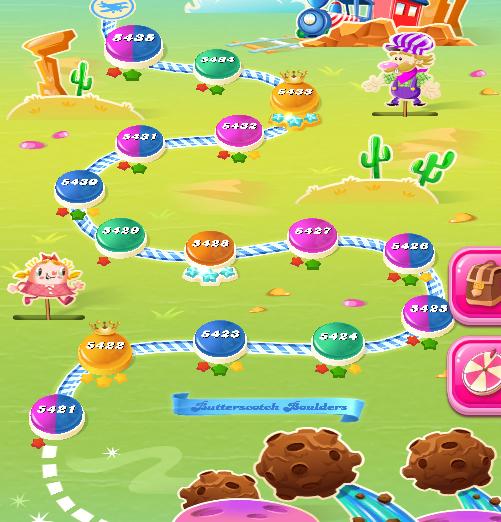 Candy Crush Saga level 5421-5435