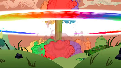 "The atomic rainboom from ""Lesson Zero"""