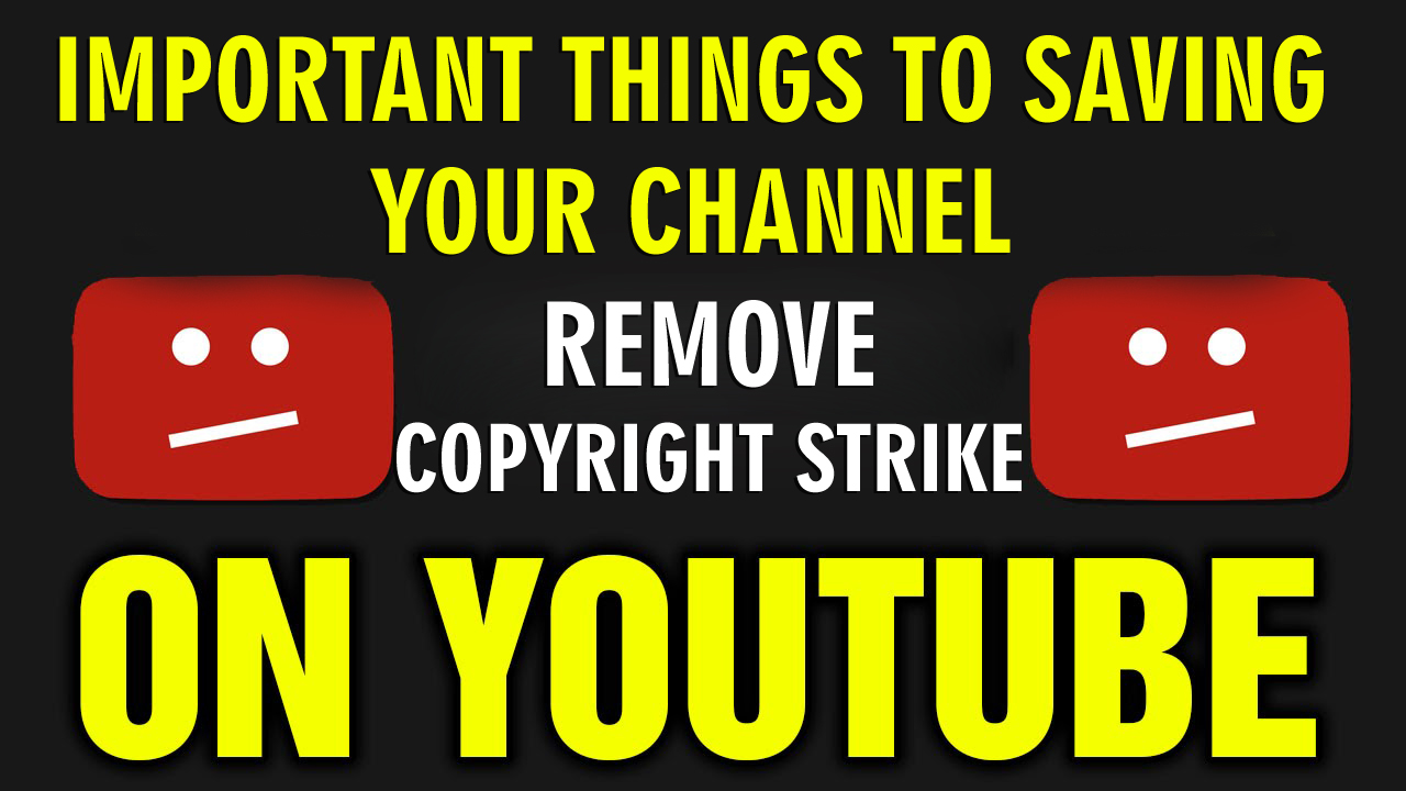Youtube Copyright Claim - How To Remove Copyright Strike on YouTube