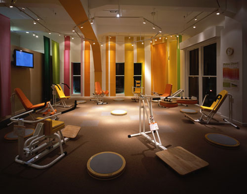 Rachel olsen home gym workout spaces for Studio interior design brescia