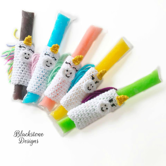 Free crochet pattern for popsicle holder unicorns