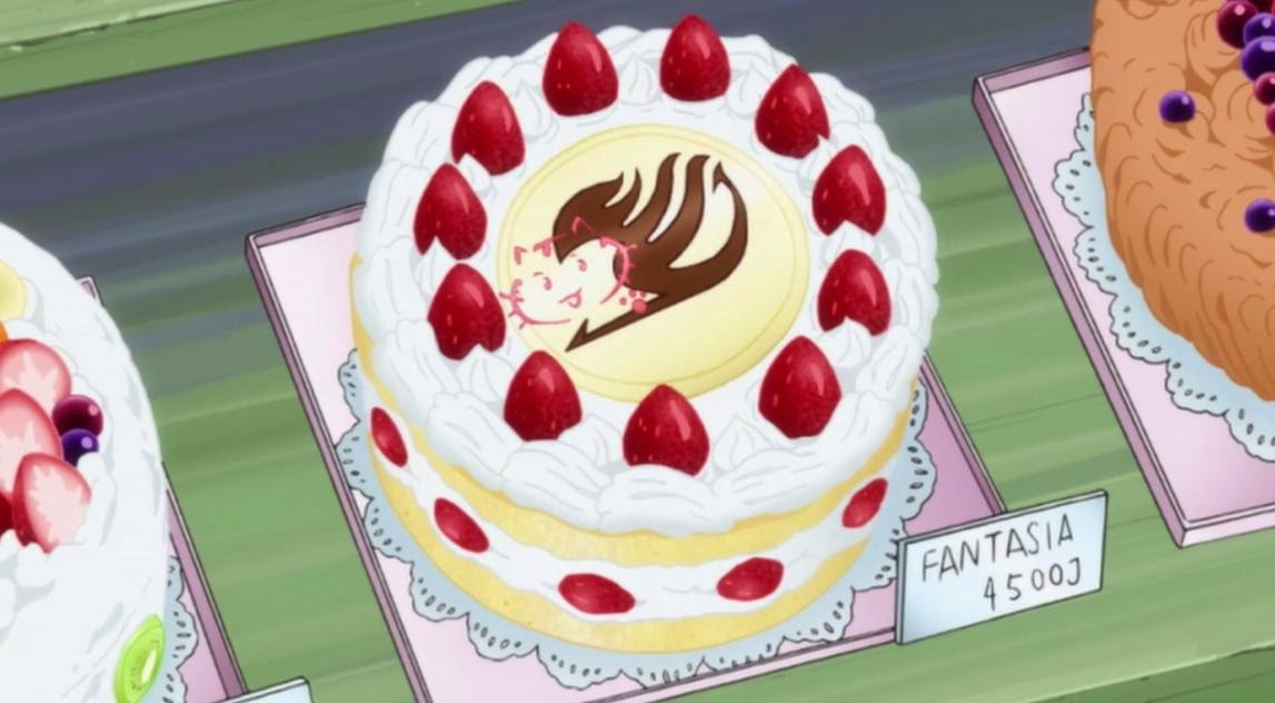 Fairy Tail Erza Strawberry Cake