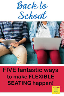 flexible seating,6th grade, middle school