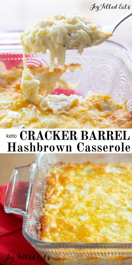 KETO Cracker Barrel Hashbrown Casserole