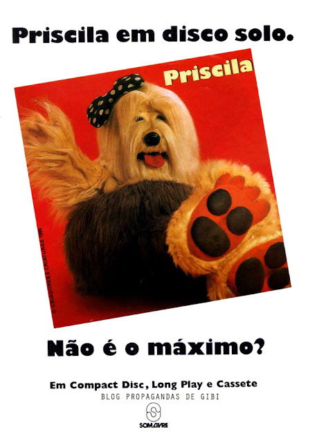 Propaganda do Disco da Priscila - TV Colosso em 1995