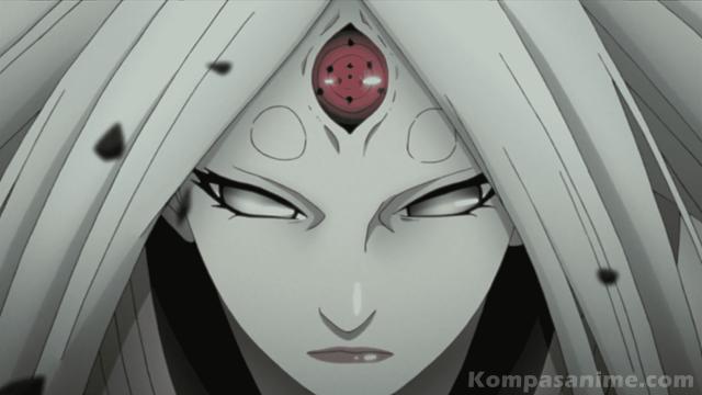 Rinnegan milik Kaguya berbeda dengan yang lain karena dia pemilik Rinne Sharingan