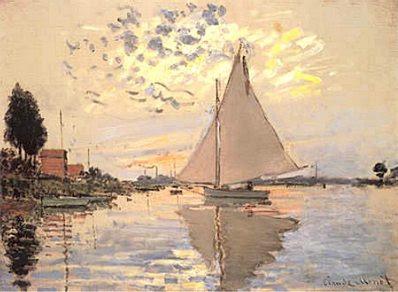 Claude Monet: Sailboat at Petit-Gennevilliers
