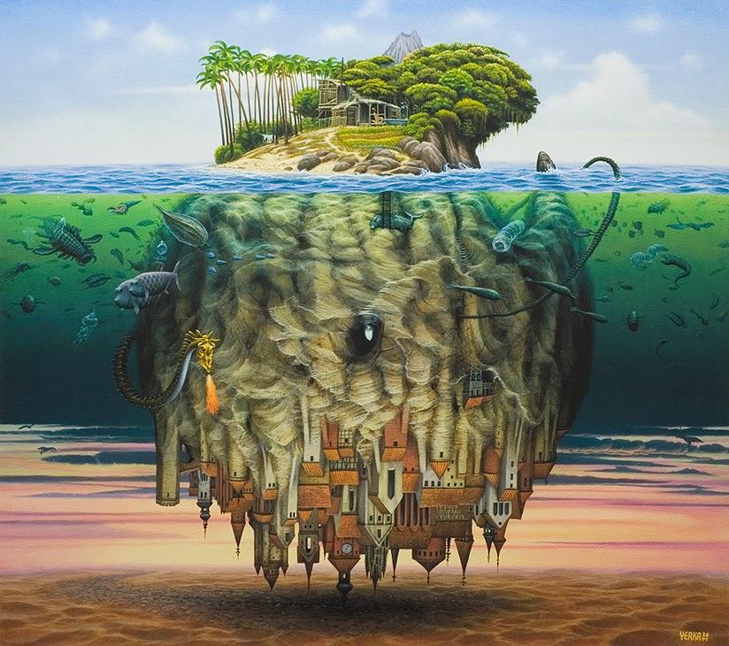 A Teoria de Wegener - Jacek Yerka e seu surrealismo fantástico ~ Polonês