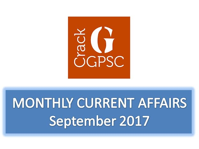 Crack GPSC Current Affairs Monthly - September 2017