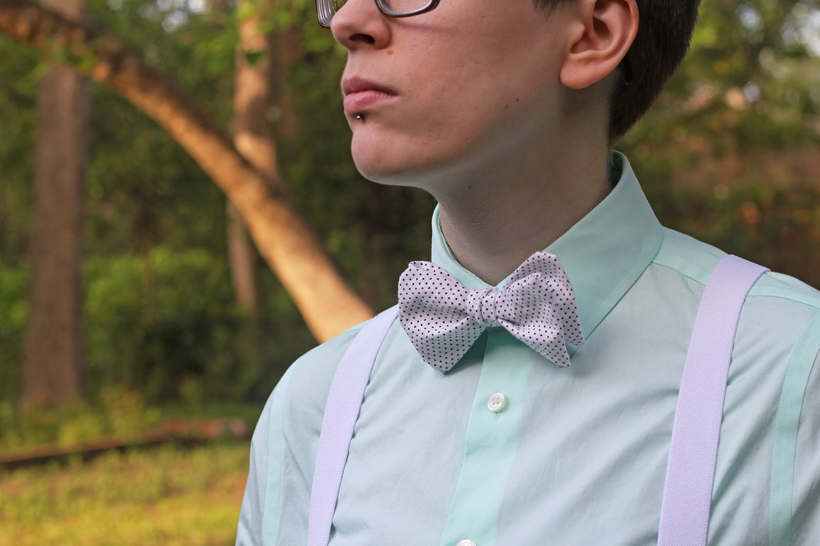 Homemade bow tie (and a free pattern!)