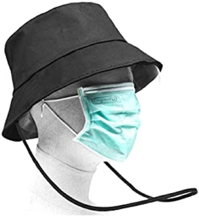 Sécurité Visage Bouclier Anti-Brouillard Anti-Virus Anti-poussière Anti-Pollen De Protection Capot De Protection Transparent Lunettes UV Chapeaux for Homme Femme (Size : Fisherman Hat)