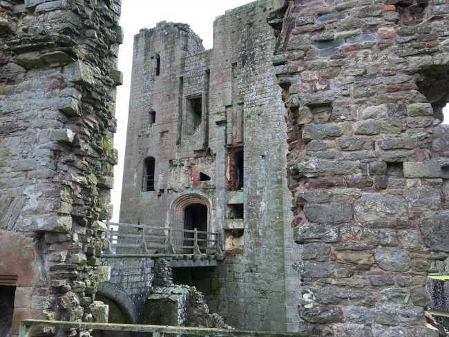 Raglan Castle - bridge to Great Tower