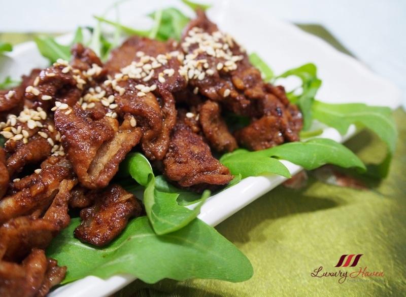 japanese recipes teriyaki pork with arugula