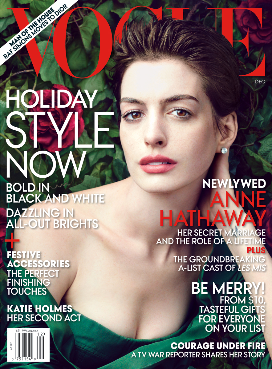 Vogue Magazine Subscription: Behind The Scenes Of Anne Hathaway's December Cover Shoot