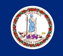 ABD'nin Virginia Eyaleti Bayrak