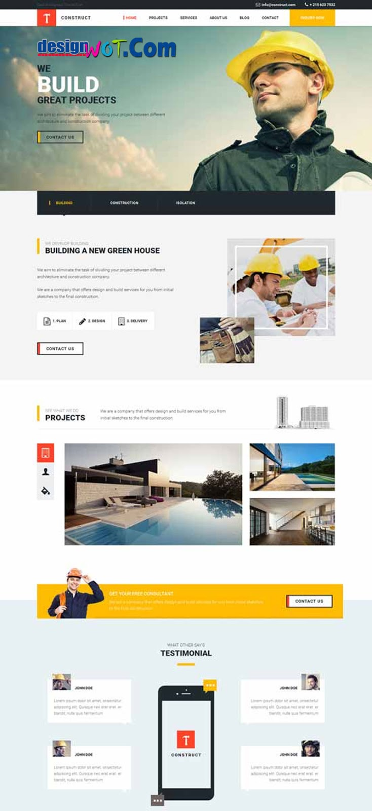 Construct Building Construction HTML Template