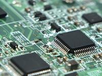 detalle de placa madre mostrando componentes de montaje en superficie