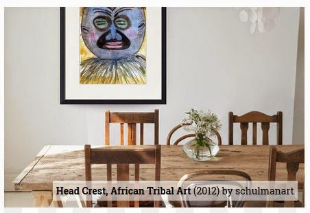 african art by @schulmanArt with decorating idea
