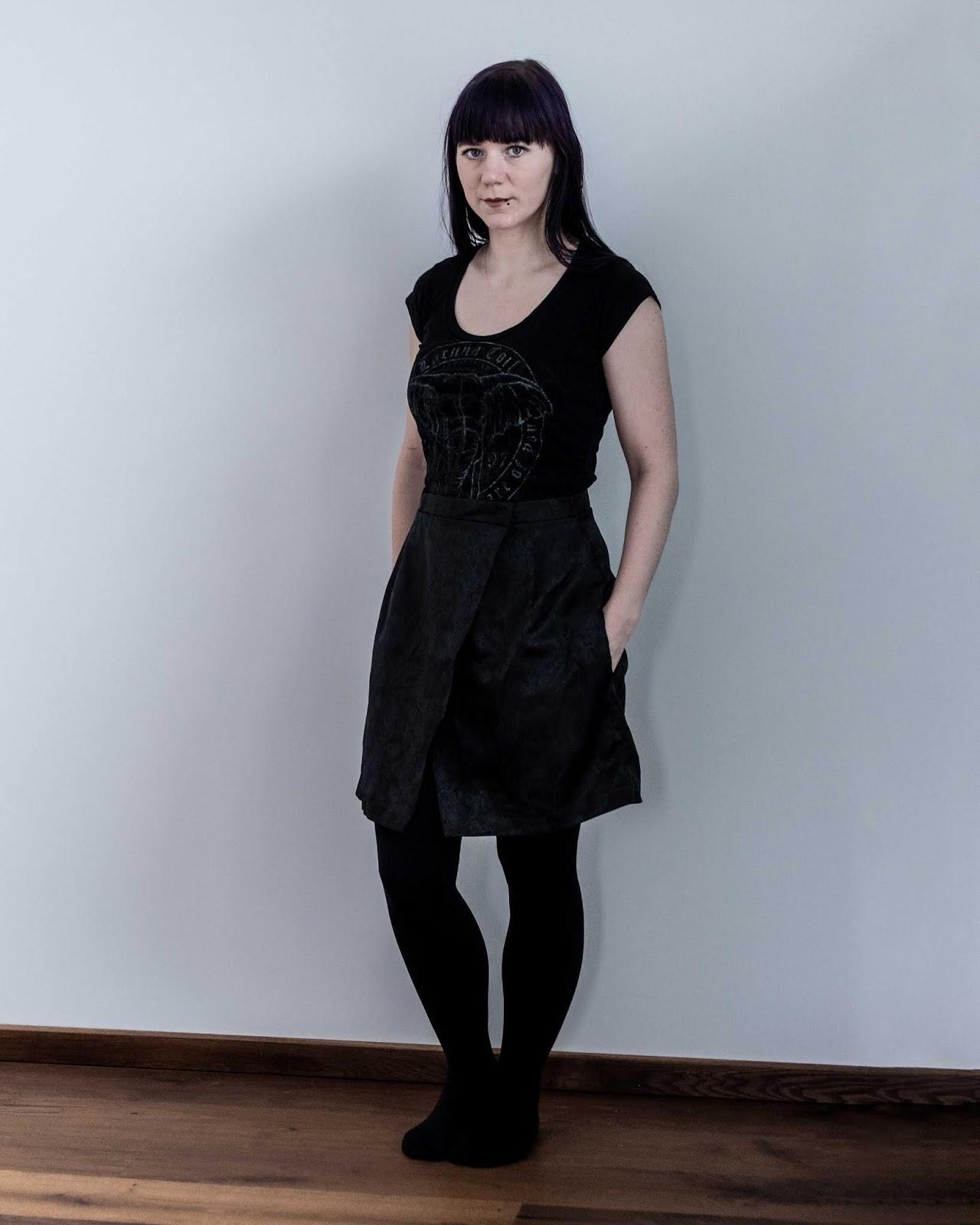 Nita wrap skirt sew diy sewing pattern made by minn's things self designed pockets