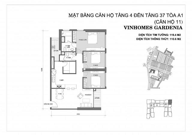 11 - Tòa A1 Vinhomes Gardenia