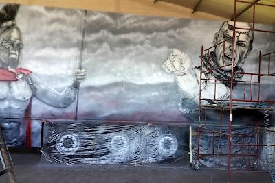 Malowanie całego tira aerografem, aerografia samochodowa, malowanie naczep, napisów, plandek