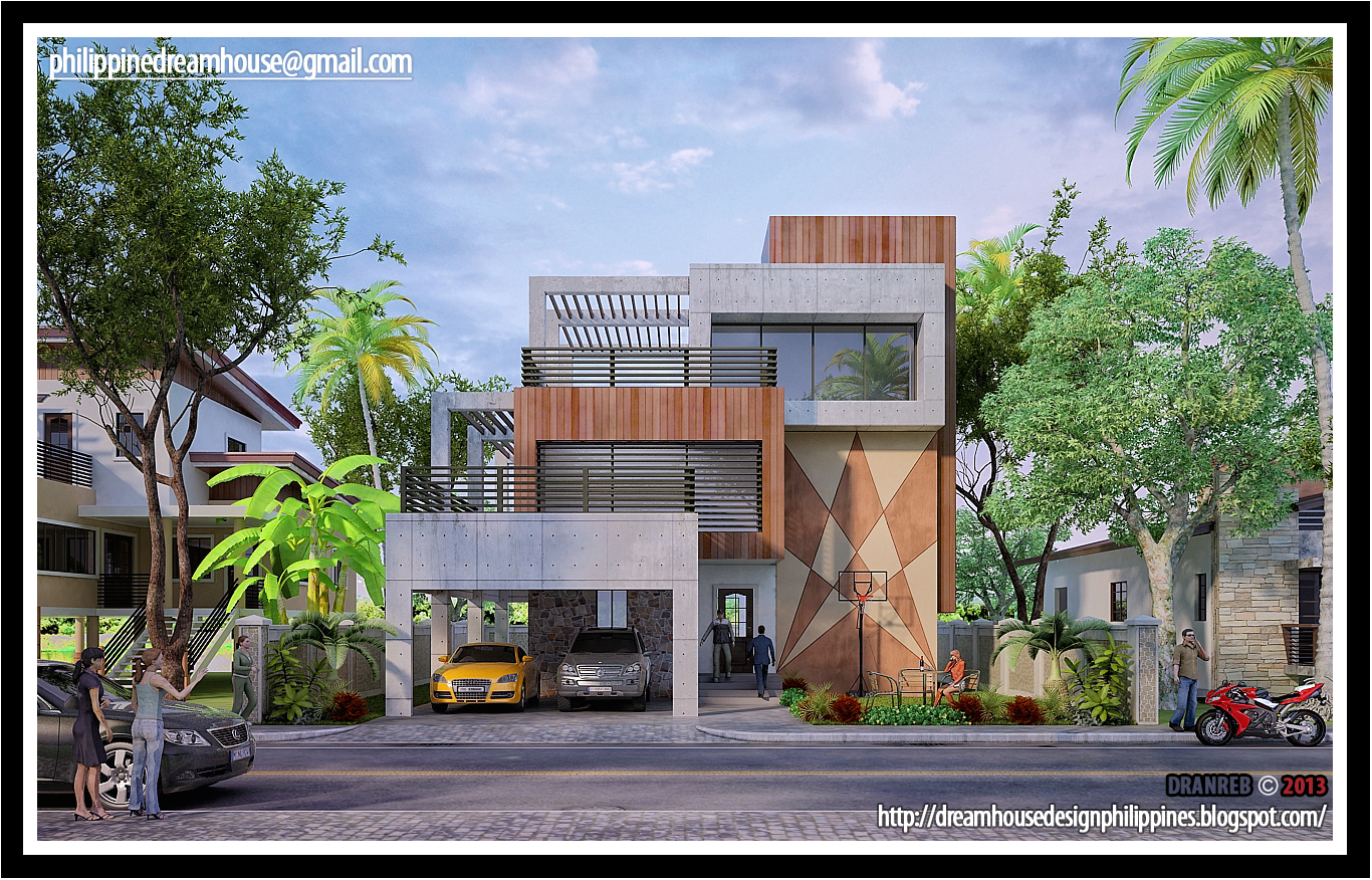 Philippine dream house design three storey modern house for Residence building design