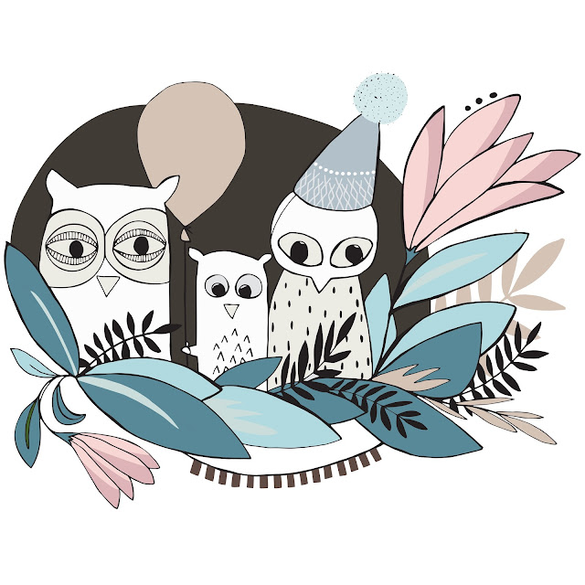 Kuvitus, pöllökuvitus, Anna-Maria Mäkelä, Annan tirpat