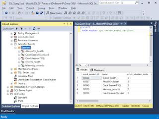 Dave Mason SQL Server Management Studio SSMS XE Profiler