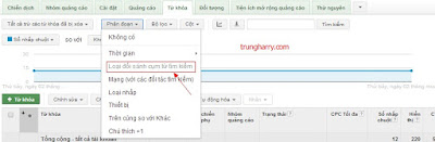 Bạn nên sử dụng tính năng phân đoạn khi chạy google adwords