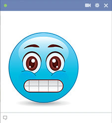 Angst Facebook Emoticon