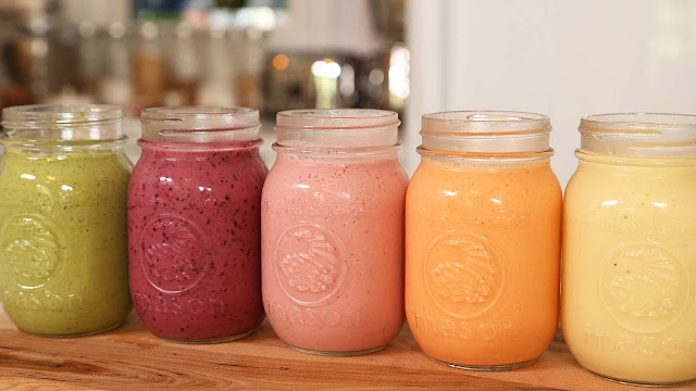 Best Five Healthy Smoothies Recipes For Breakfast!
