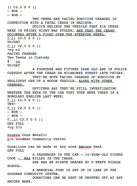 Unit 11: Scriptwriting for media products: LO1: Examples of